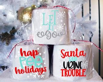 christmas toilet paper white elephant gift funny christmas gag gift secret santa christmas exchange