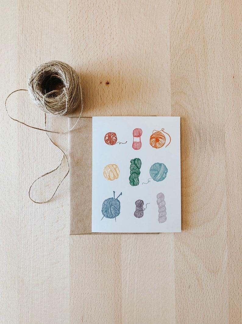 Rainbow Yarn Card for Yarn Lovers Yarn Addict Cards for image 0
