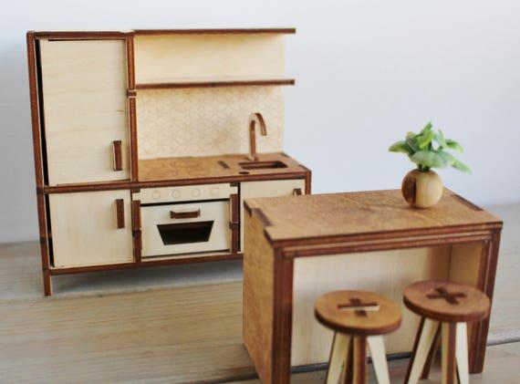 Miniature Kitchen Doll House Kitchen Doll House Furniture | Etsy