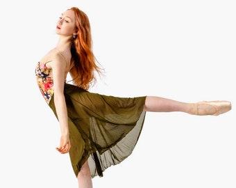 """GRACE""""  Adult Long High Low ballet skirt 19 1/2""""X 27"""""""