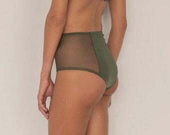 1e41b9179 Brief Panties Vintage Lingerie High Waist Panties 4 Way
