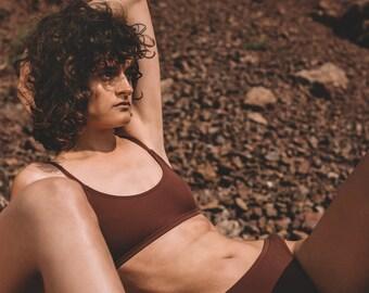 683f43ecb4a Brown Bralette, Brown Bikini Top, Sexy Bralette, Brown Swimsuit Top, Brown  Swimwear, Women Bathing Suit, Vintage Bralette, Casual Bralette