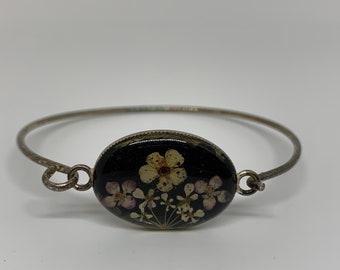 Fine Jonc, Vintage 70's enamelled dried flowers