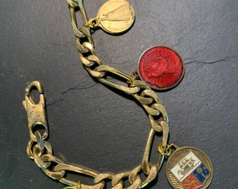 Vintage gourmette with medals
