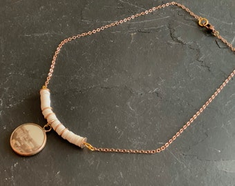 Pink gold necklace and ancient Geneva medallion