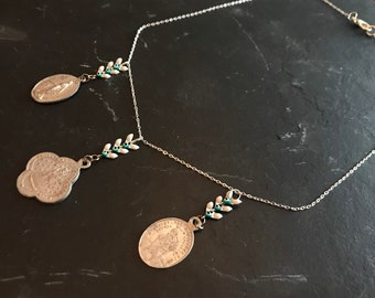 Silver Trio necklace and rafters