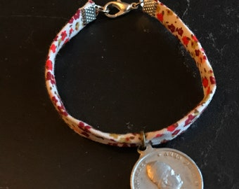 Liberty bracelet and Vintage Medal