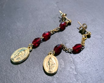Pendants in Rosary Beads and Miraculous Medals on GoldFilled Gold