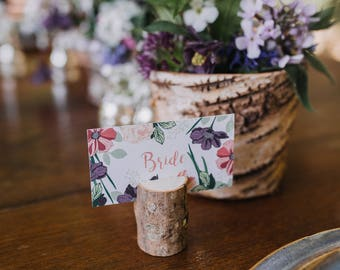 As featured on Boho Weddings | Hedgerow | Botanical Floral Stationery Customisable Wedding Place Cards / Place Settings