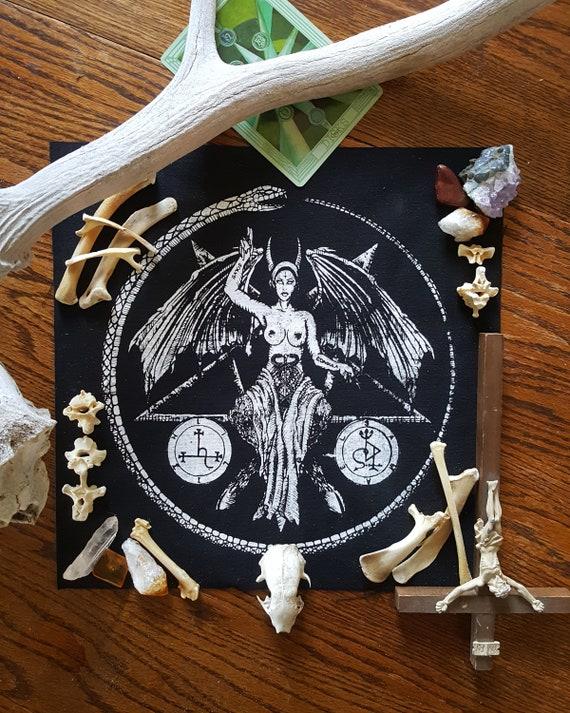 Cufflinks Pentagram Baphomet Samael and Lilith
