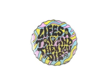 Life's a Trip Enamel Lapel Pin - Psychedelic Enamel Pin Badge