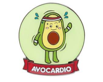 Avocardio Lapel Pin - Cute Avocado Enamel Pin Badge