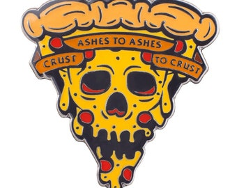 Crust to Crust Lapel Pin - Pizza til Death Enamel Pin Badge