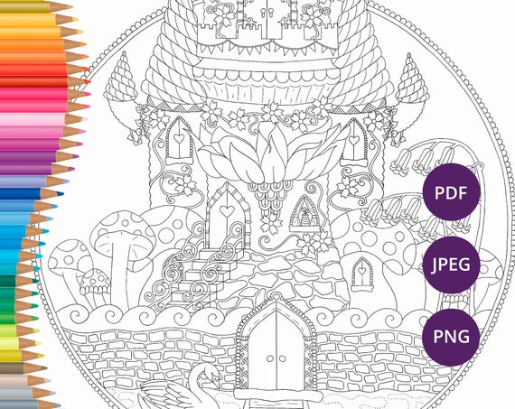 - Fairy Coloring Page For Adults Fairy Adult Coloring Page Etsy