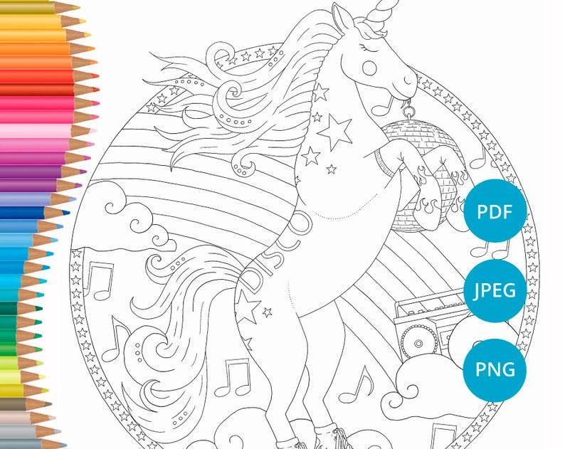 Kleurplaten Inkleuren Op Ipad.Roller Derby Unicorn Volwassen Kleurplaten Rolschaatsen Etsy