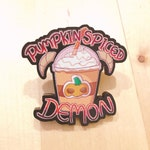 1.5 inch Pumpkin Spice Demon Frappe Acrylic Pin