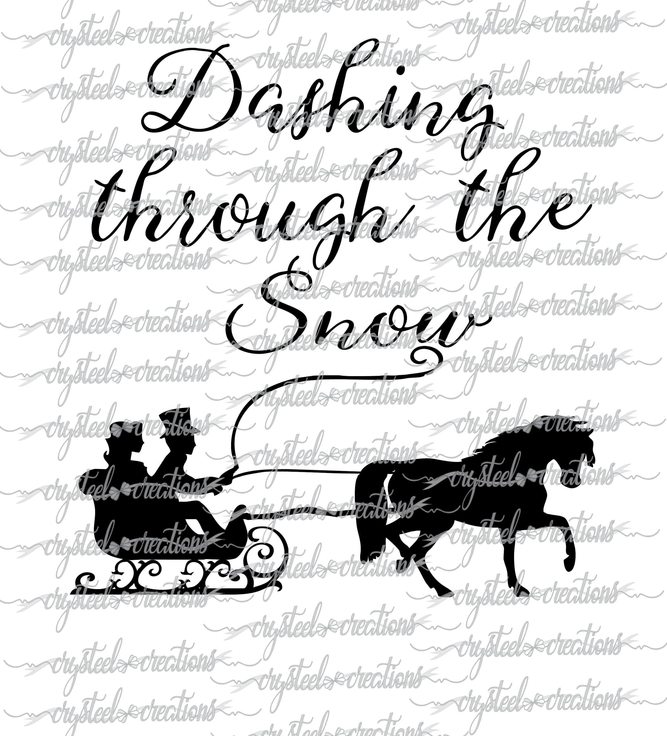 Dashing Through The Snow Svg Png Silhouette Cricut Etsy