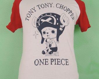 Vintage One Piece Tony Tony Chopper Anime T-Shirt Street Wear Swag Top Tee Size M