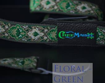 Floral Green 'Ukulele Strap