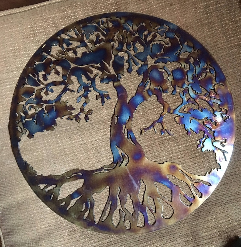Metal Tree Of Life Wall Art Metal Tree Of Life Family Tree Etsy