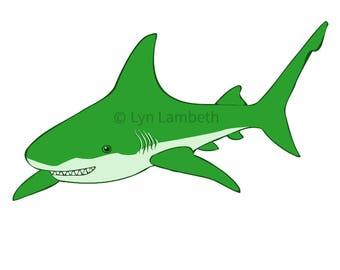 shark clipart etsy rh etsy com Cartoon Shark Clip Art Cute Shark Clip Art
