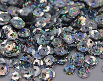 Metallic Sequins Craft Supplies 30 gram Flat Sequins 6mm Loose Sequins Approx 2600pcs
