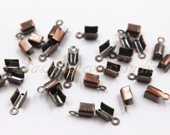 10.5x5x5mm Round Stainless Steel CRIMP Column Cord Ends Findings Jewelry Making Hardware Supplies Clamps Do It Yourself DIY Connector Caps