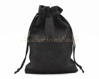 """10pcs Burlap Bags 4x5.25""""/5x7"""", Jewelry Bags, Gift Bags, Burlap Favor Bags, Jute Bags, Party Favor Bags, Wedding Gift Bags, Jute Favor Bags"""