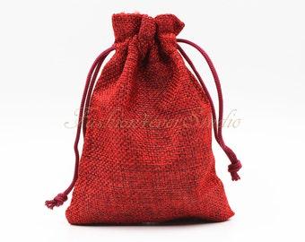 """10pcs Burlap Bags 4""""x5.25"""", Jewelry Bags, Gift Bags, Burlap Favor Bags, Jute Bags, Party Favor Bags, Wedding Gift Bags, Jute Favor Bags"""
