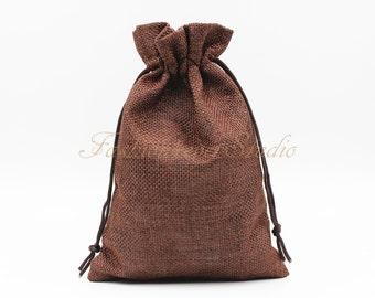 """10pcs Burlap Bags 4x5.25""""/ 5x7"""", Jewelry Bags, Gift Bags, Burlap Favor Bags, Jute Bags, Party Favor Bags, Wedding Gift Bags, Jute Favor Bags"""
