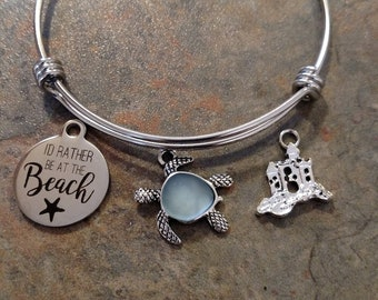 Rather be at the beach bracelet