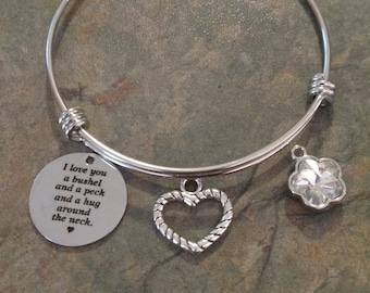 Love you a bushel and a peck bracelet
