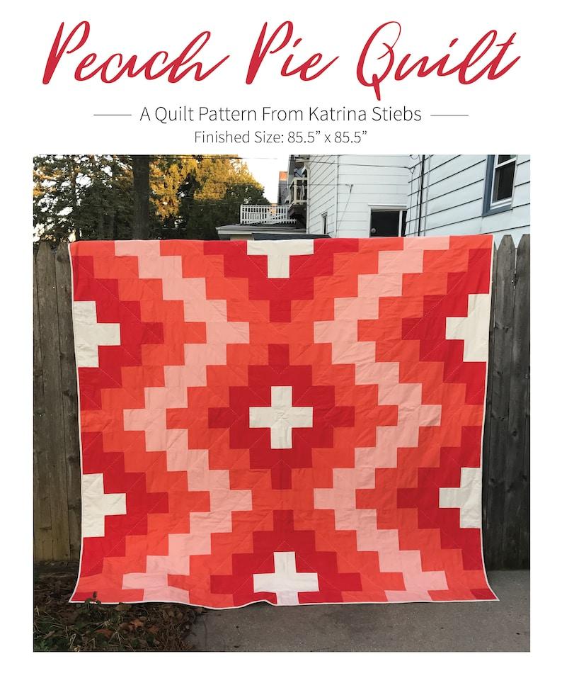 Peach Pie Quilt Pattern  PDF image 0