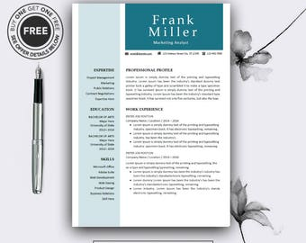 teacher resume template cv template for ms word professional etsy