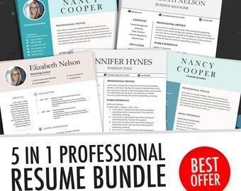 medical resume template cover letter for ms word best cv etsy