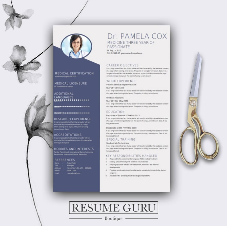 Medical Resume Template Cover Letter For MS Word Best CV