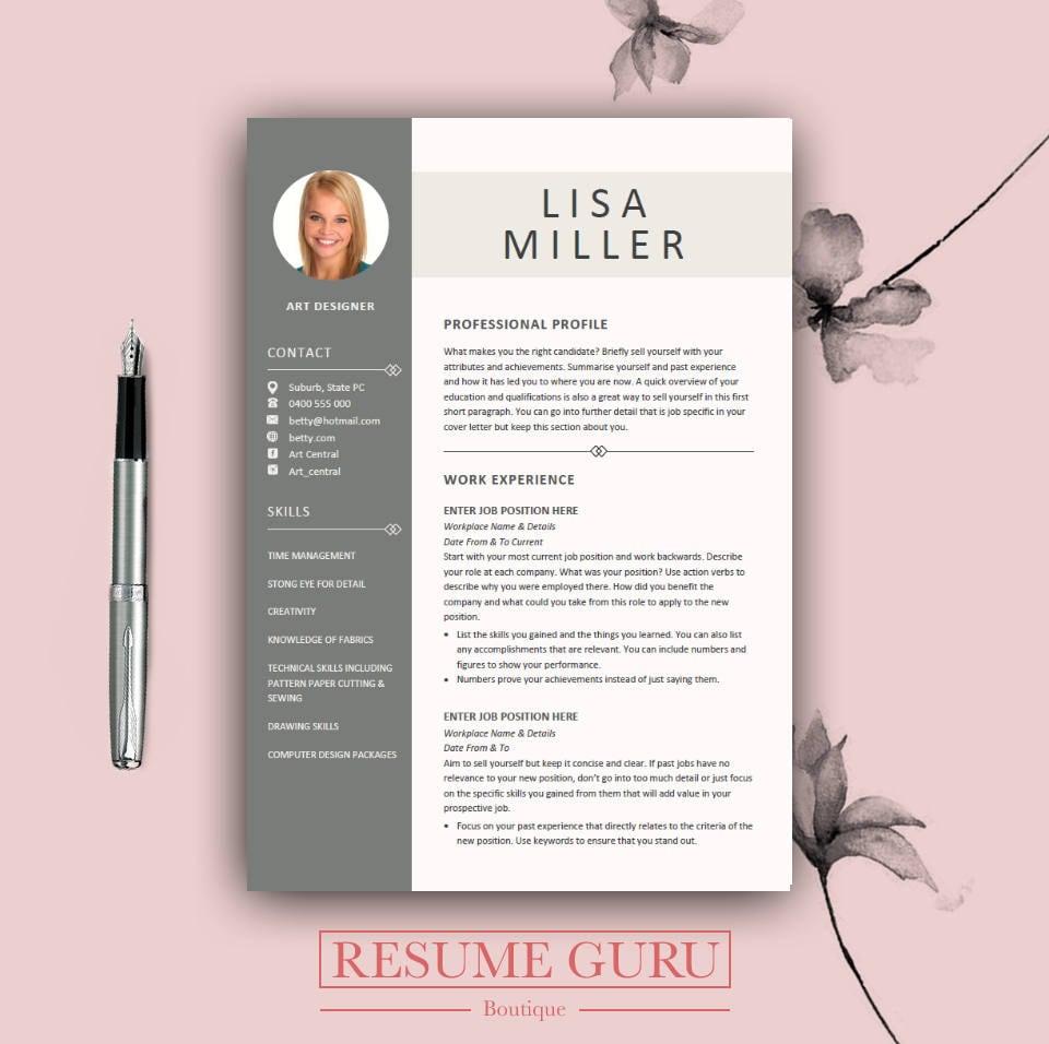 teacher resume template cover letter for ms word modern cv