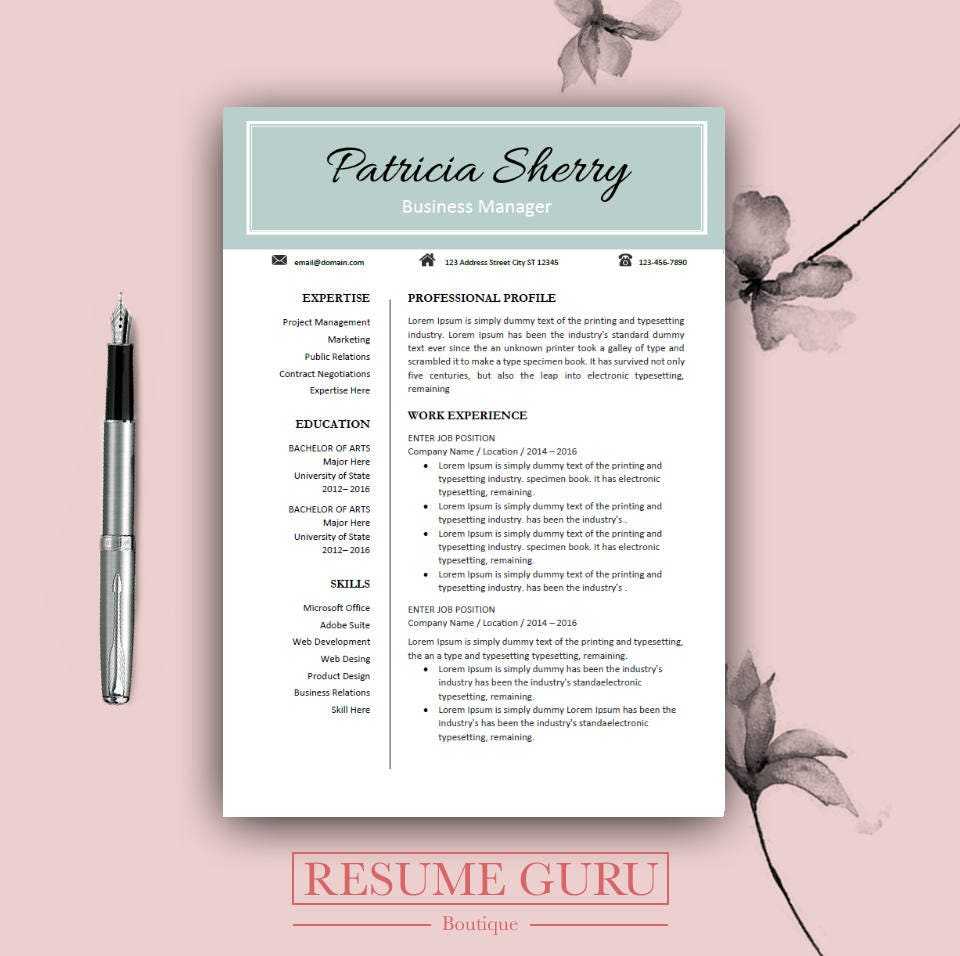 professional cv template for word  u0026 pages resume teacher