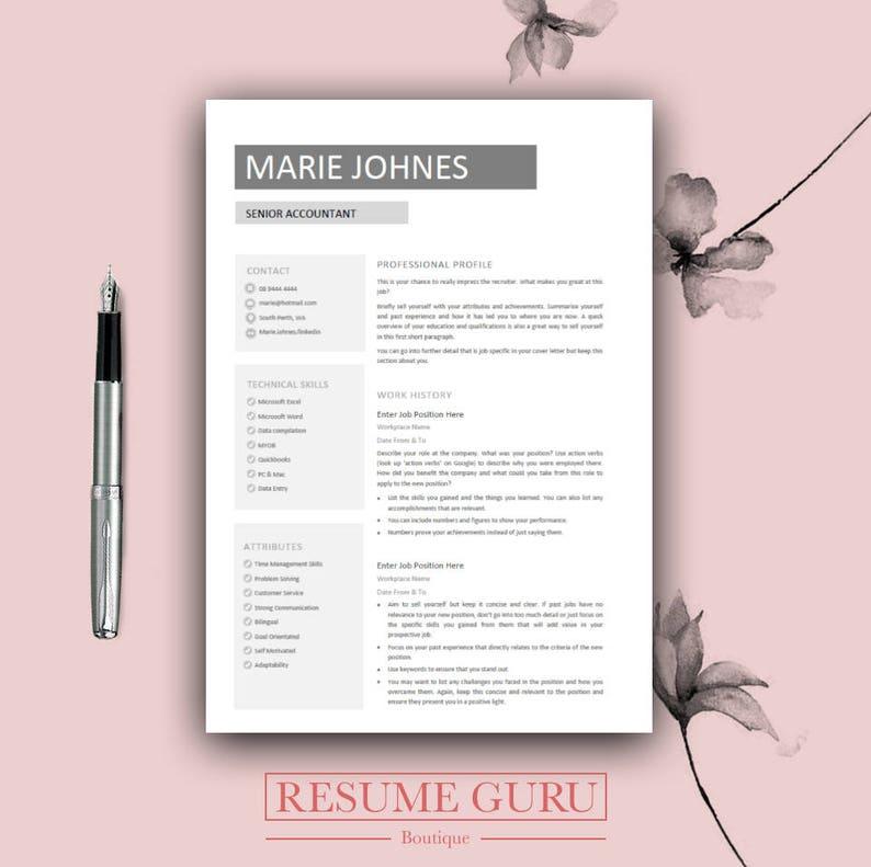 resume template bundle cover letter for ms word modern cv