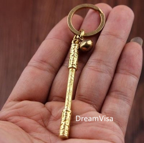 Journey to the West The Monkey King Sun Wukong Keychain Key Ring Brass Gift