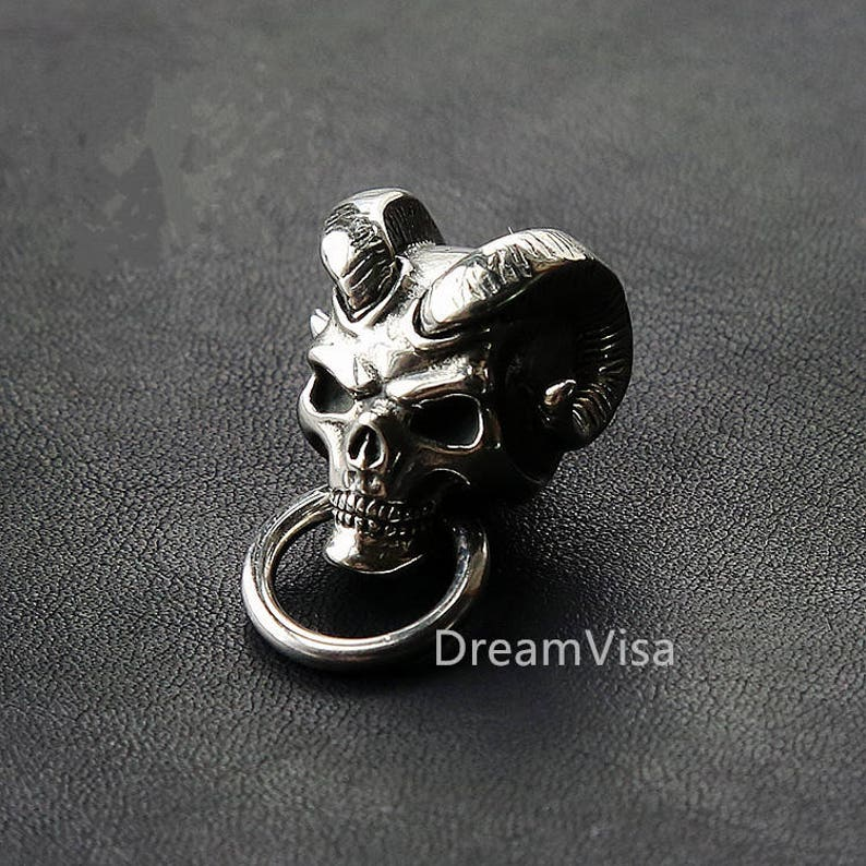 30/% off Sales 10 Pieces Japan Demon Devil Biker Wallet Chain Connector Concho Solid Brass Punk With Screw On The Buttom