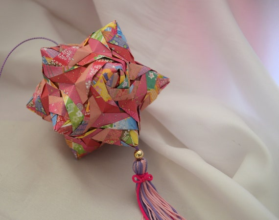 Origami ball Kusudama Hand made mobile craft for | Etsy