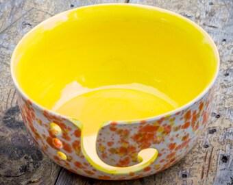 Citrus Spots Yarn Bowl