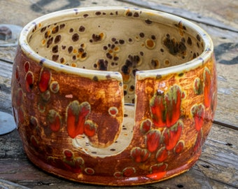 Fox Fire Yarn Bowl