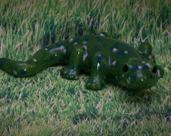 Green Spotted Lizard