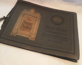 Vintage Singer Manufacturing Company ROLL OF HONOUR