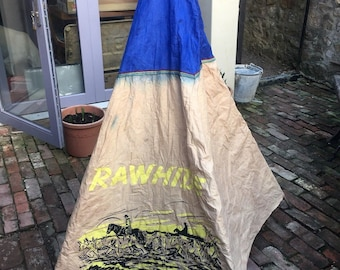 Vintage children's cotton wigwam teepee play tent canvas