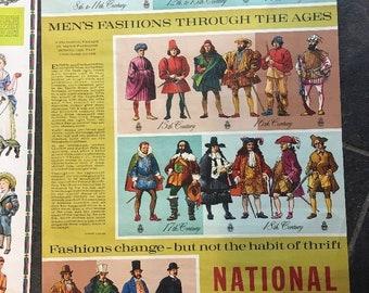 Set of 4 vintage NATIONAL SAVINGS School education posters