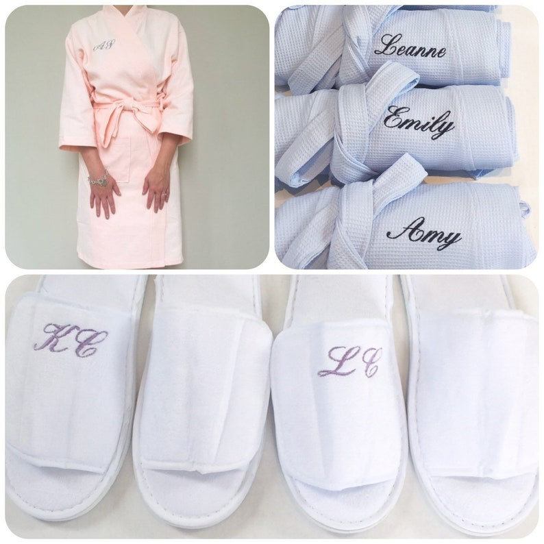 Bride Robe and Slippers Personalised Bridesmaid Gift Set  1f4d1f23a