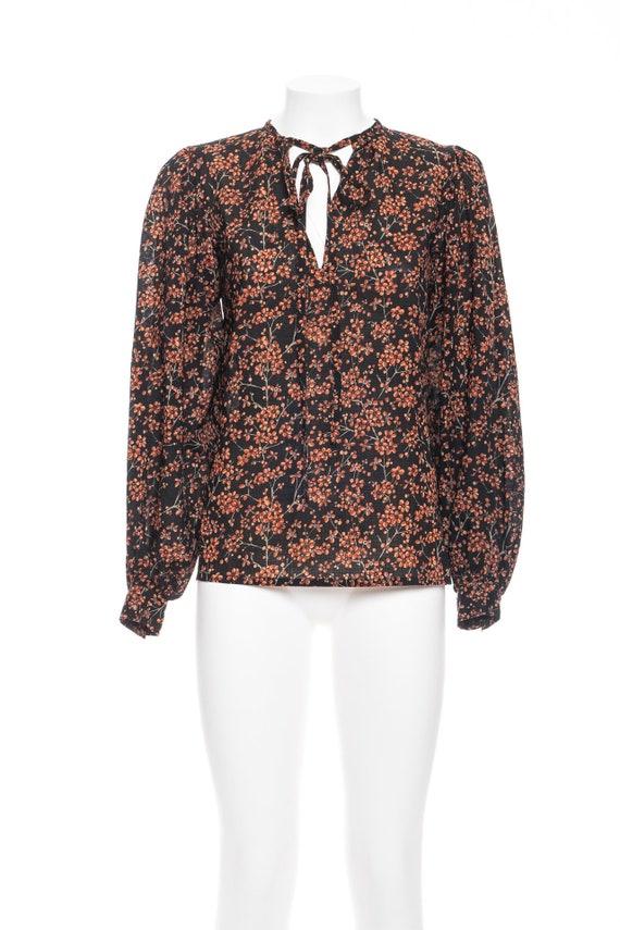 70s vintage YVES SAINT LAURENT Wool Blouse